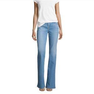 7FAM Light Wash Flip Flop Jeans